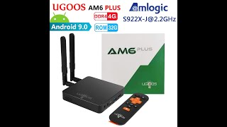 UGOOS AM6 PLUS Amlogic S922X-J 2.2GHz 4GB DDR4 32GB ROM Smart Android 9.0 TV Box 2.4G 5G WiFi BT