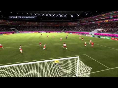 """FIFA 12 (UEFA Euro 2012): Сим. псевдо 1/4 финала """"Польша - Дания"""""""