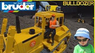 Throwback Thursday Bruder Bulldozer Construction Trucks Unboxing  Pretend Play at Night