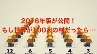 超最新!「もしも地球が100人の村だったら?」の2016年版が公開!果たして世界は??《衝撃》