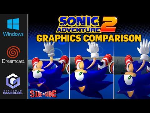 Sonic Adventure 2 - Battle   Graphics Comparison   ( Dreamcast , Gamecube , PC )