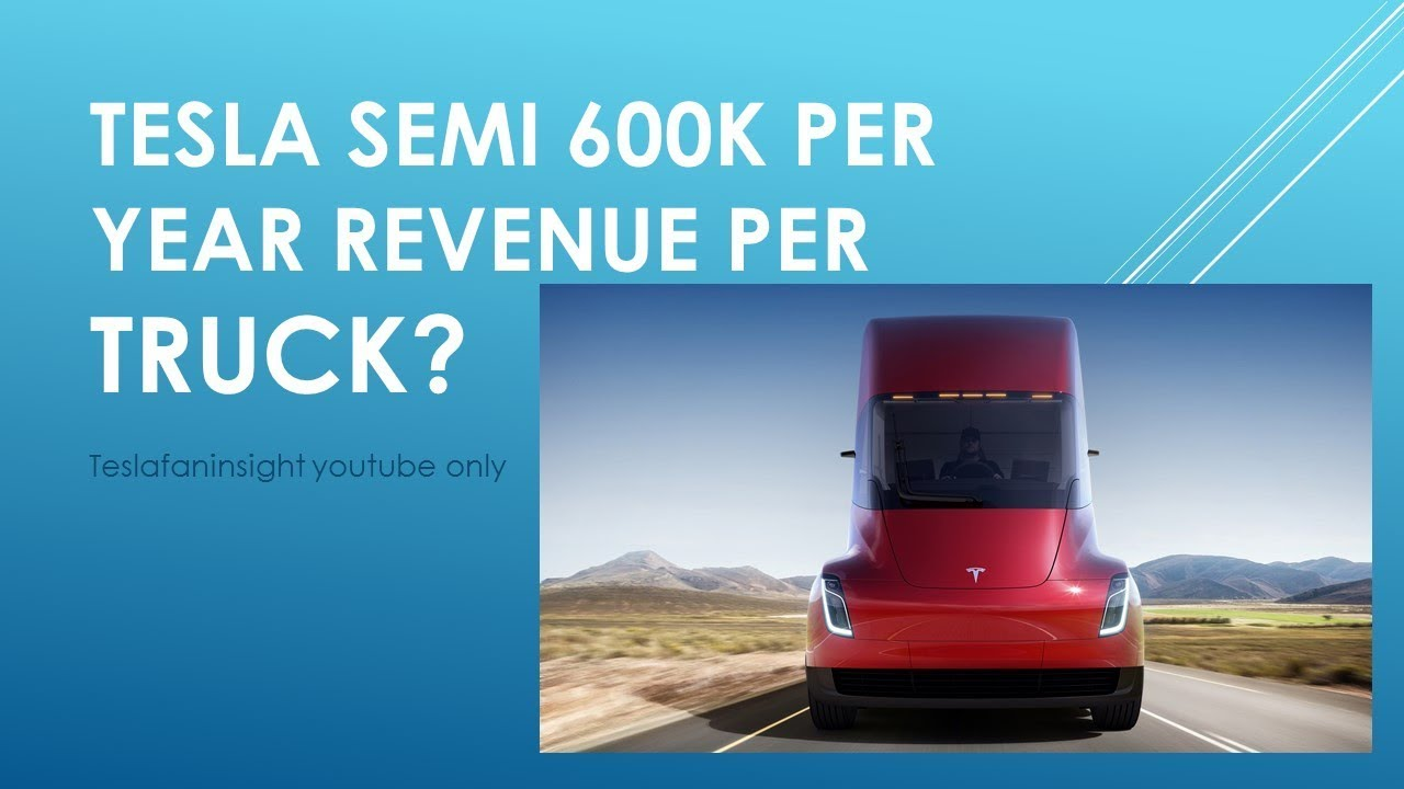 Tesla Semi Unveil Cost Specs 1 26 Per Mile 600 000 Revenue Yr Each Truck