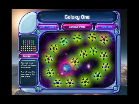 [L] Bejeweled 2 Deluxe - Puzzle Mode Full Longplay [720p]