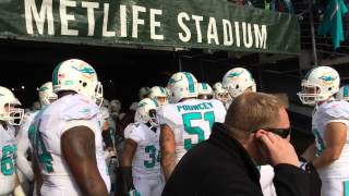Dolphins-Jets: Fired up in the tunnel
