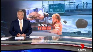 Foreign Delinquents Hurl Rocks On Aussie Truck.(Melton) Seven + Nine News