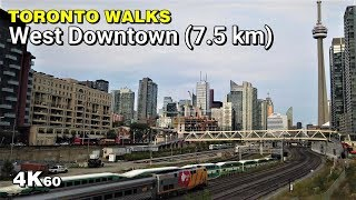 West Downtown Toronto Walk - From Yonge & Queens Quay to Koreatown [4K60]