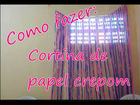 Noivadoj raah como fazer cortina de papel crepom youtube for Como quitar papel mural