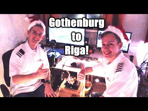 🎅✈️🎅 MULTI CREW VATSIM Flight: Dash 8 Q400 from Gothenburg to Riga! ❄️🎄 [P3D V4.4]
