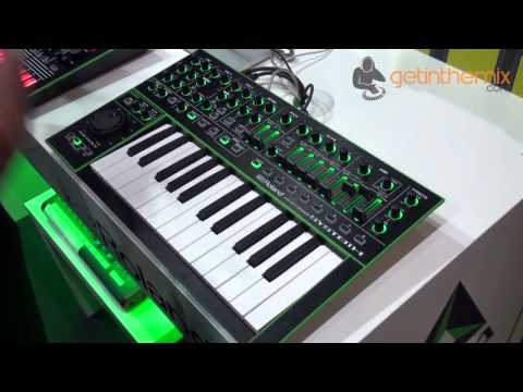 Roland AIRA System 1 Keyboard Synthesizer at MusikMesse 2014