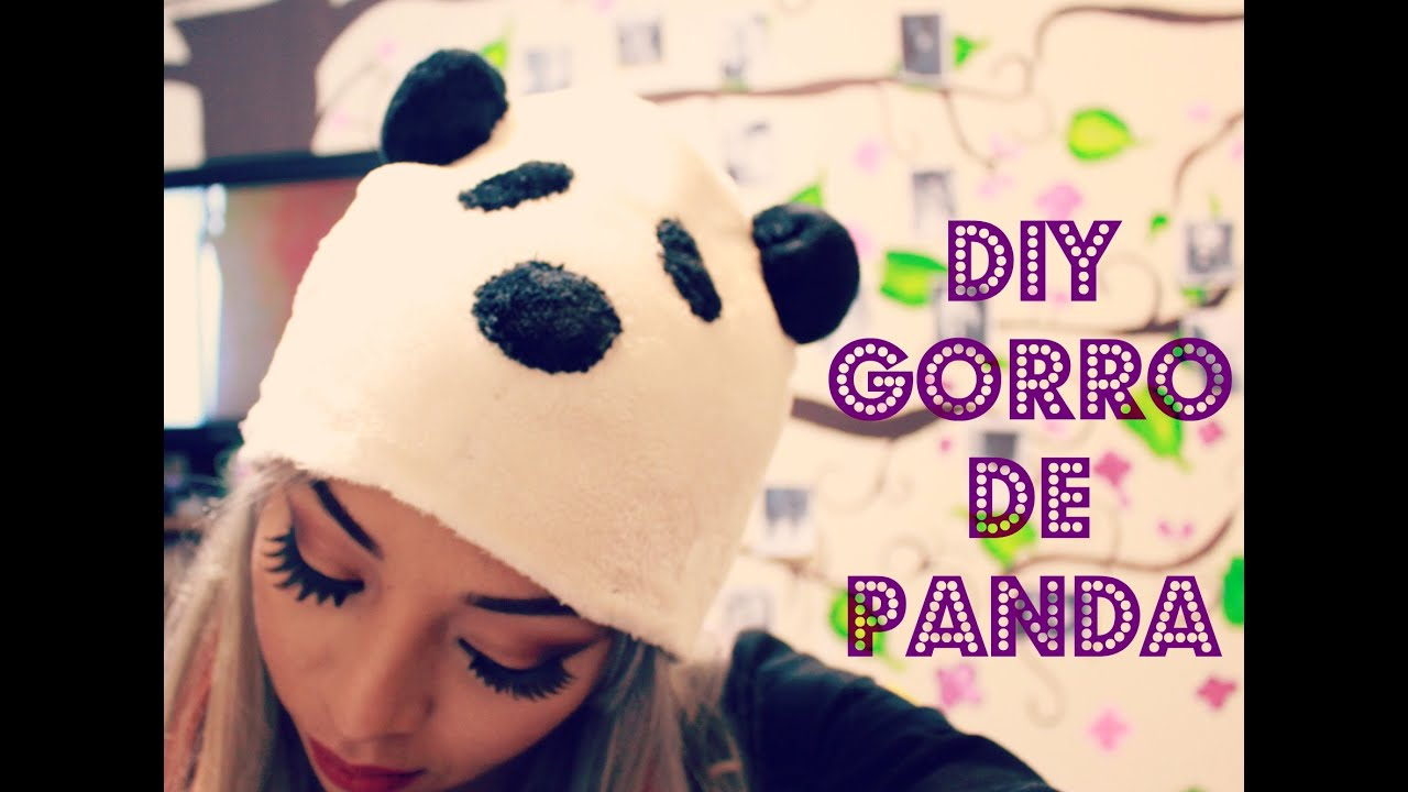 TUTORIAL: GORRO DE OSO PANDA - YouTube