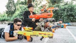 Nerf Guns War : Girl S.W.A.T Of SEAL TEAM Special Use Nerf Gun Fight One Eye Boss Of Criminal Group