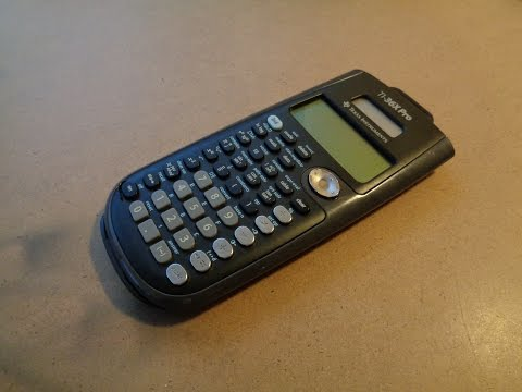 Solving Quadratic Equations using the TI-36X Pro Calculator