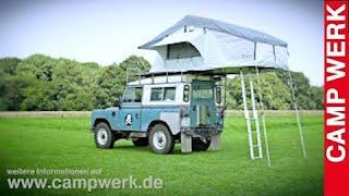 CAMPWERK Dachzelt ADVENTURE Aufbau Autodachzelt Klappzelt Faltzelt Autozelt