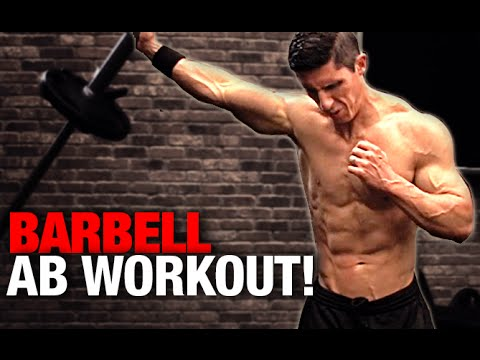 Barbell ab workout 4 minutes youtube