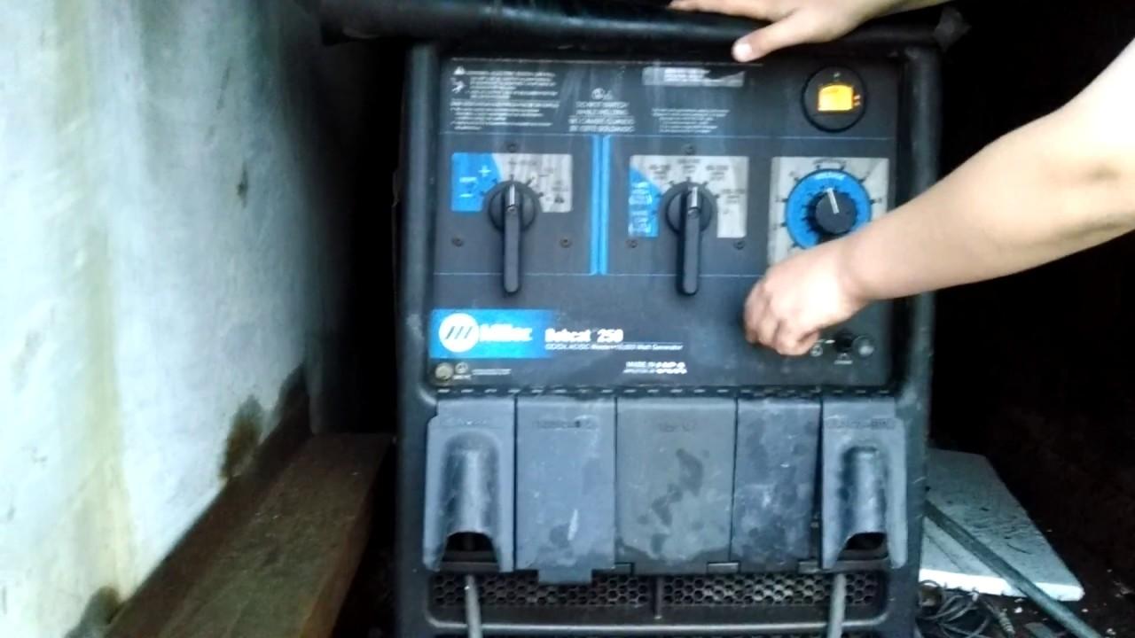 Miller Bobcat 250 Gas Welder 10,500 Watts SOLD. - YouTube