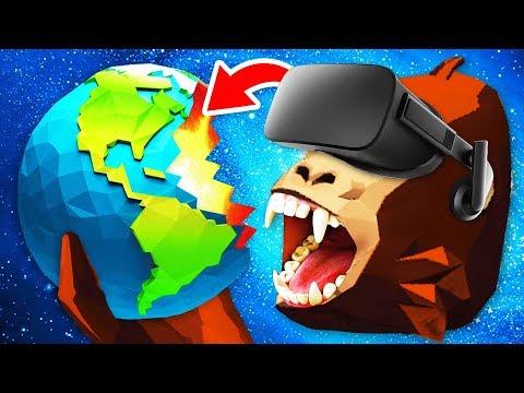 EATING THE WORLD In Virtual Reality GORILLA SIMULATOR (Funny Growrilla VR Gameplay)