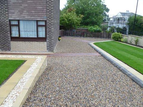 Low Maintenance Front Garden Ideas Driveways Grass