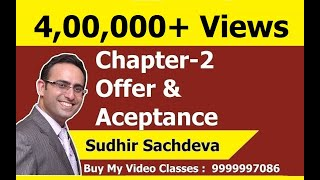 Indian Contract Act 1872- Chapter-2 Offer and Acceptance (Part-1)