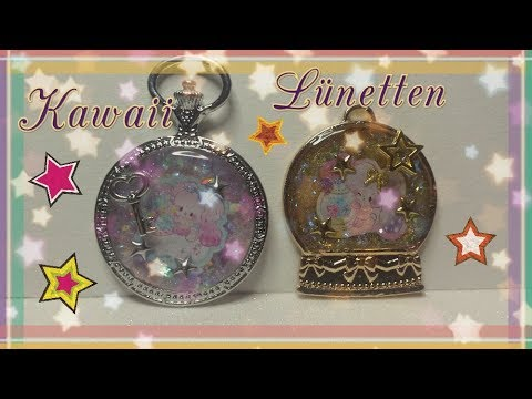 Tutorial/Watch me Craft ,Kawaii ❤ Open Bezel Charm ❤ Lünette, UV-Resin