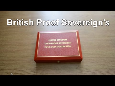 Proof Gold Sovereign coins collection