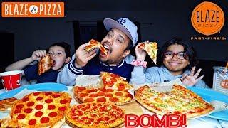 😋•CHEESY* Pizza | BLAZE PIZZA, CHEESE PIZZA, JALAPEÑO PIZZA, PEPPERONI PIZZA Mukbang/Eating Show