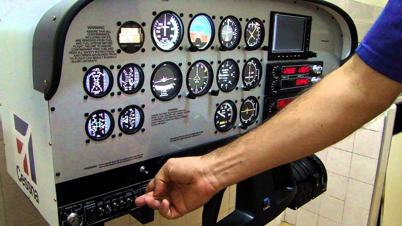 Painel C172 Simulator Macbare Cockpits  YouTube