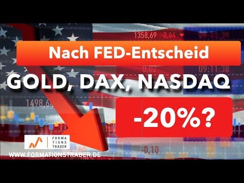 Nach FED-Entscheid: Gold, Dax, Nasdaq mit -20%???