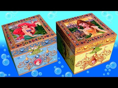 Music Box Surprise Princess Ariel the Little Mermaid and Princess Belle Beauty and the Beast