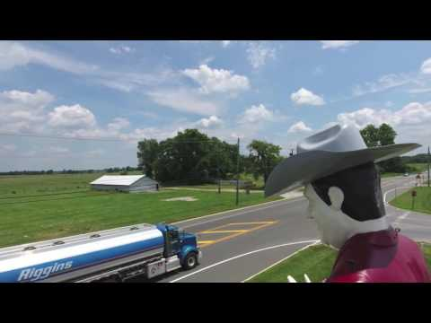 20-foot tall Muffler Man lives at Cowtown Rodeo