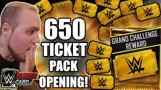 650 Tickets On Grand Challenge Reward Packs Any WM34 Pulls Noology WWE SuperCard Season 4