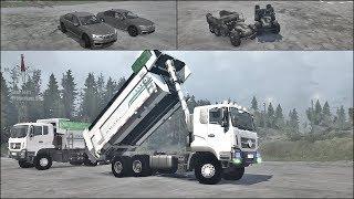 Kolejne BMW! Czołg i Wywrotka = Crash Gry  Crazy Mods SpinTires MudRunner #3