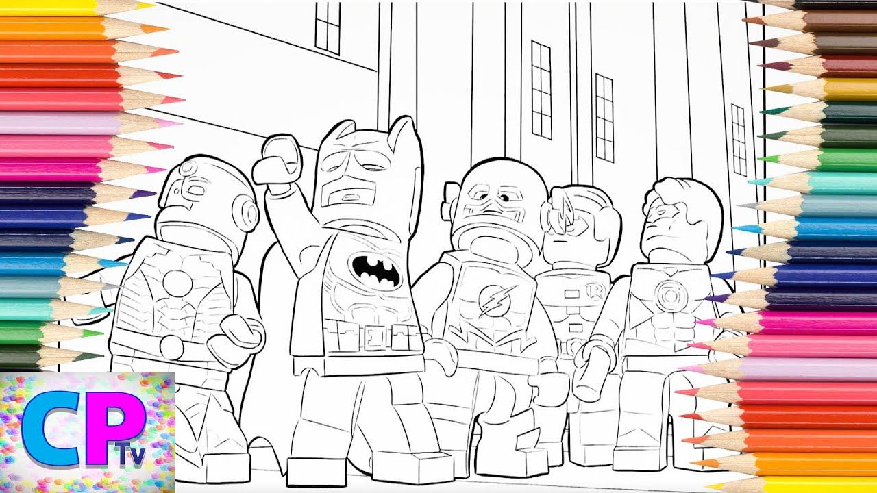 Lego Superheroes Coloring Pages Cyborg Flash Batman Coloring Pages Tv Lego Drawing Youtube