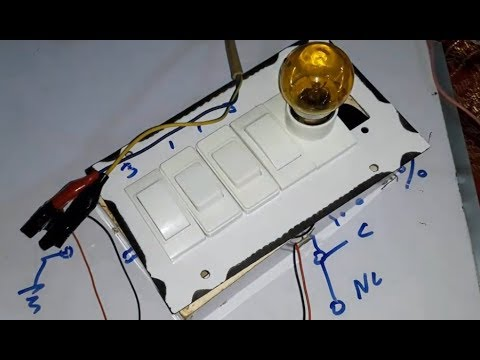 How to Control One Bulb from 4 Places without 4 Way Switches (Urdu/Hindi)