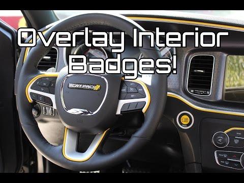 Dodge Charger Scat Pack Custom Interior Badges