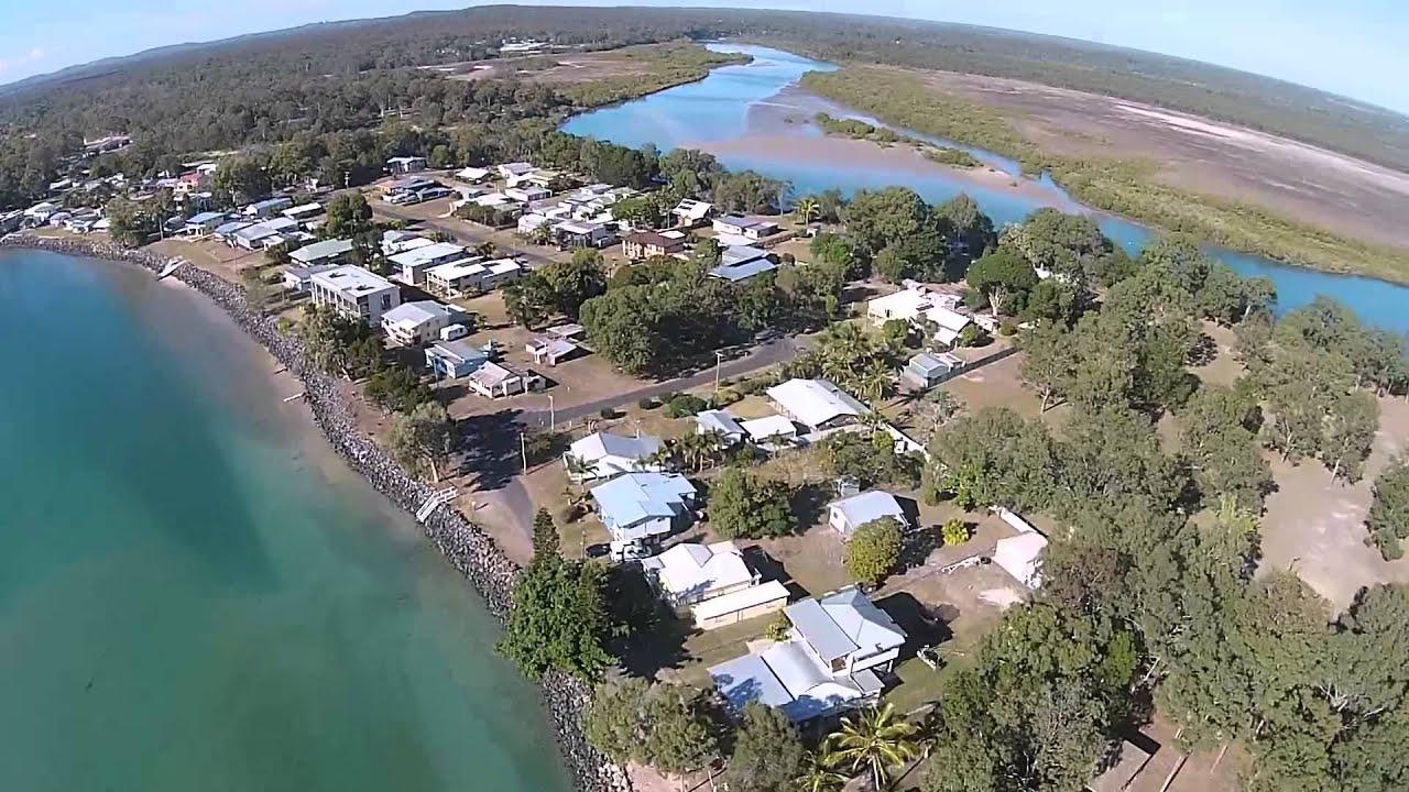 toogoom hervey bay qld australia aerial view youtube. Black Bedroom Furniture Sets. Home Design Ideas