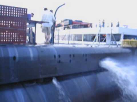 Submarine COD test run of GM Model 248A diesel engine