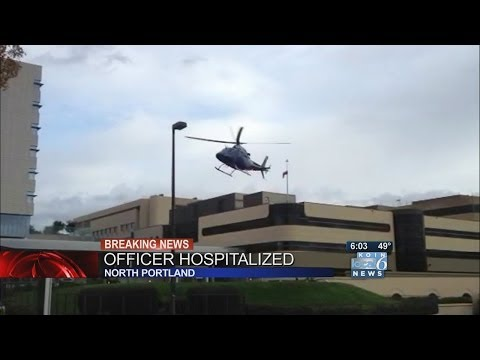 Oregon City police officer shot, flown to Legacy Emanuel Medical Center by Life Flight Helicopter