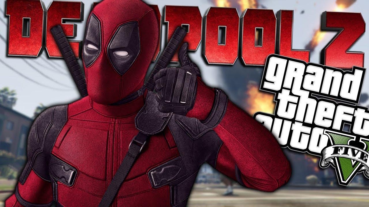 GTA 5 Mods - DEADPOOL 2 MOD w/ WEAPONS (GTA 5 Mods Gameplay)