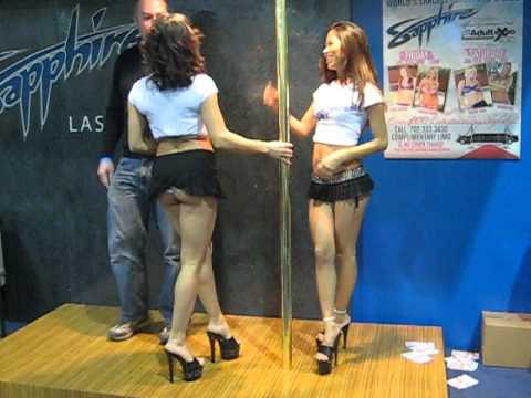 AVN - Sapphire models in micro skirts, thong, heels from YouTube · Duration:  42 seconds