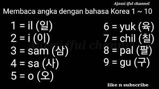 Belajar bahasa korea #membaca angka  dengan bahasa korea