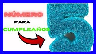 Número en 3 D para fiesta infantil  Number in 3D for children