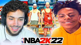 Adin & iShowSpeed Team up in the NBA 2K22 Park... *FUNNY*