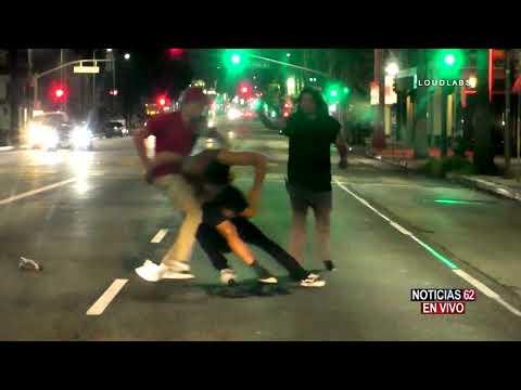 Brutal pelea en corazón de Hollywood- Noticias 62