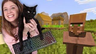 ماين كرافت: قطتي لعبت ماين كرافت !!! حياة نوبة #4