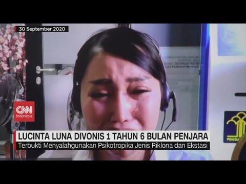 Lucinta Luna Menangis Divonis 1 Tahun 6 Bulan Penjara