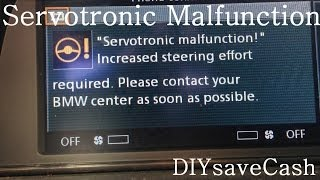 BMW E65 E66 Servotronic Malfunction After Smog Test