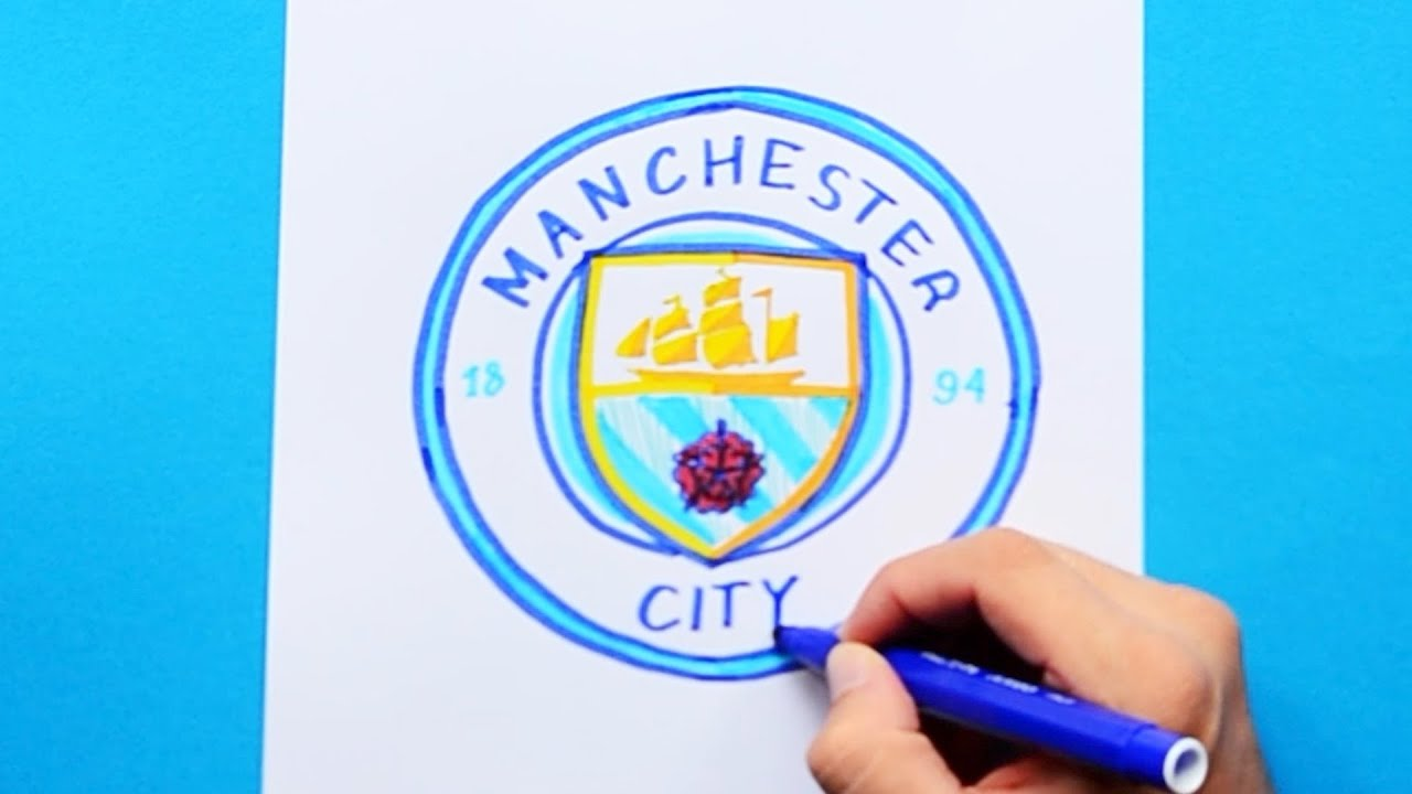 How To Draw Manchester City F C Logo Premier League Youtube