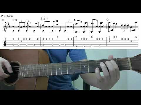 Into The Unknown (Panic! At The Disco) - Easy Fingerstyle Guitar Playthrough Lesson With Tab