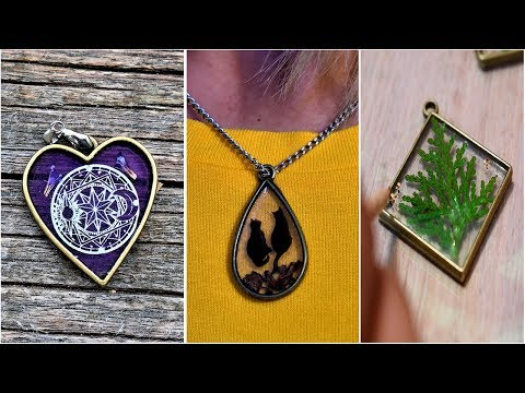 12 Ideas for Fairy Pendants with epoxy resin