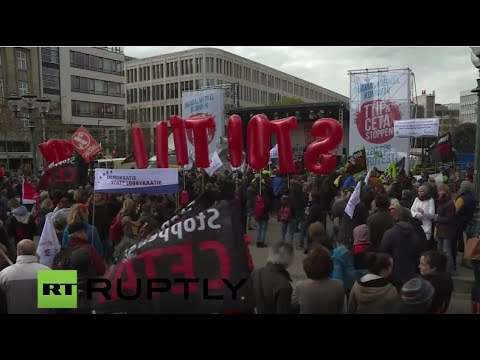 LIVE: Anti-TTIP, anti-CETA demo take place in Hannover day before Obama and Merkel visit
